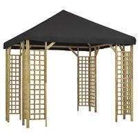 vidaXL Pavilion, antracit, 3 x 3 m (310032+47711)