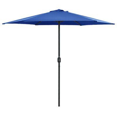 vidaXL Umbrelă de soare cu stâlp aluminiu, albastru azur, 270 x 246 cm