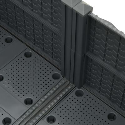 vidaXL Strat înălțat, 80x80x23 cm, polipropilenă