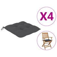 vidaXL Perne de scaun, 4 buc., antracit, 40 x 40 x 7 cm, textil