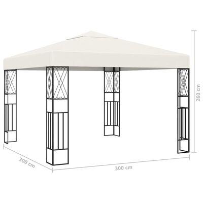 vidaXL Pavilion, crem, 3 x 3 m, material textil