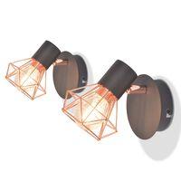 vidaXL Lămpi de perete, 2 buc, cu 2 becuri LED cu filament 8 W