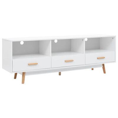 vidaXL Comodă TV, alb, 160 x 40 x 55 cm, MDF