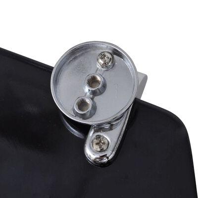 vidaXL Capace WC, 2 buc., negru, MDF