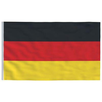 vidaXL Drapel Germania și stâlp din aluminiu, 6,2 m