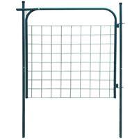 vidaXL Poartă pentru gard de gradină 100 x 100 cm verde