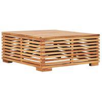 49380 vidaXL Masă de grădină, 69,5x69,5x31 cm, lemn din tec solid