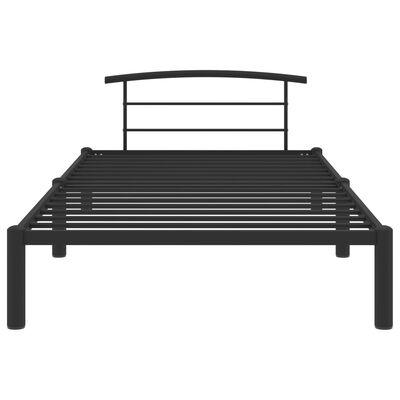 vidaXL Cadru de pat, negru, 100 x 200 cm, metal