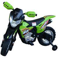 Motoreta Motocross Electrica Pentru Copii, Verde, 107x53x70cm