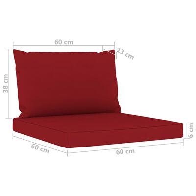 vidaXL Set mobilier de grădină, cu perne roșu vin, 8 piese