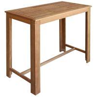 vidaXL Masă de bar, lemn masiv de salcâm, 120 x 60 x 105 cm