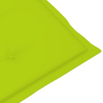 vidaXL Pernă de șezlong, verde aprins, (75 + 105) x 50 x 4 cm