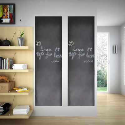 Tablă sticker autocolant pentru perete cu cretă, 0,45 x 2 m, 2 bucăți