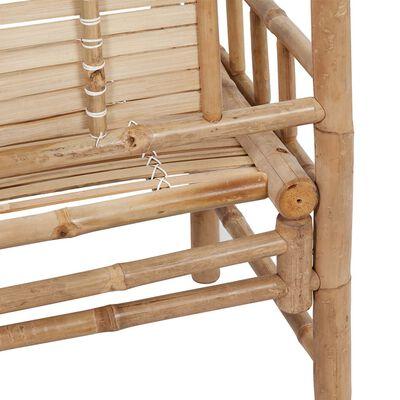 vidaXL Bancă de grădină cu pernă, 120 cm, bambus