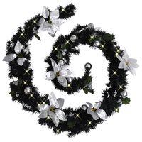 vidaXL Ghirlandă de Crăciun cu becuri LED, negru, 2,7 m, PVC