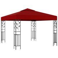 vidaXL Pavilion, roșu vin, 3 x 3 m