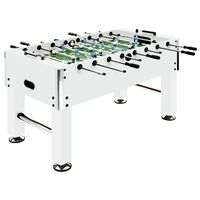 vidaXL Masă de fotbal, alb, 140x74,5x87,5 cm, oțel, 60 kg
