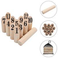 vidaXL Set pentru joc Kubb cu numere, lemn