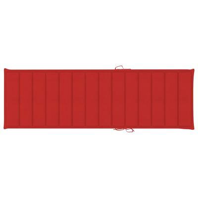 vidaXL Pernă de șezlong, roșu, 200 x 70 x 4 cm, material textil