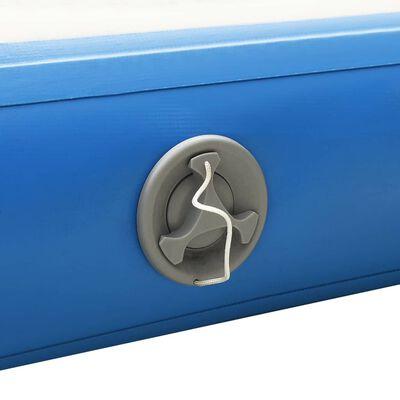 vidaXL Punte plutitoare gonflabilă, albastru și alb, 300x200x15 cm