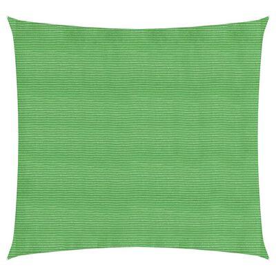 vidaXL Pânză parasolar, verde deschis, 5x5 m, HDPE, 160 g/m²