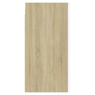 vidaXL Comode TV, 2 buc., alb și stejar Sonoma, 30,5x30x60 cm, PAL