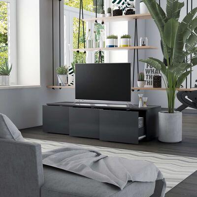 vidaXL Comodă TV, gri, 120 x 34 x 30 cm, PAL
