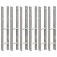 vidaXL Ancore de gard, 6 buc., argintiu, 8x6x60 cm, oțel galvanizat
