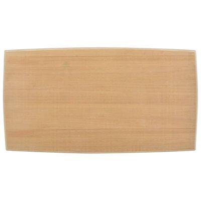 vidaXL Măsuță de cafea, alb și maro,110x60x40 cm, lemn masiv de pin