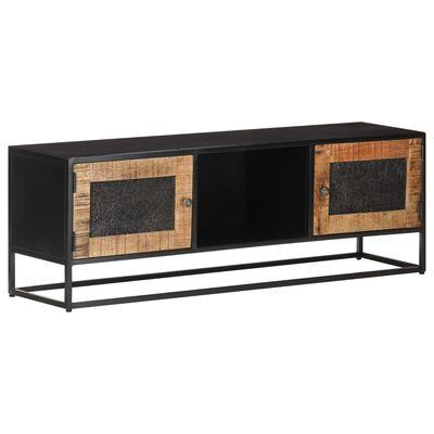 vidaXL Comodă TV, 120 x 30 x 40 cm, lemn de mango nefinisat