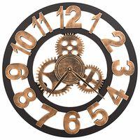 vidaXL Ceas de perete, auriu și negru, 58 cm, metal