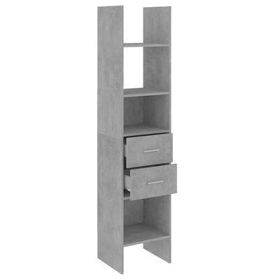 vidaXL Bibliotecă, gri beton, 40x35x180 cm, PAL