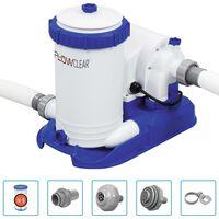 Bestway Pompă de filtrare pentru piscină Flowclear, 9463 L/h