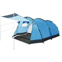 vidaXL Cort de camping tip tunel, 4 persoane, albastru