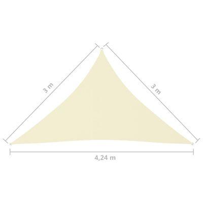 vidaXL Parasolar, crem, 3x3x4,24 m, țesătură oxford, triunghiular