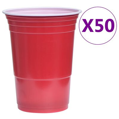 vidaXL Set de masă joc bere ping pong, 0,5 L, plastic