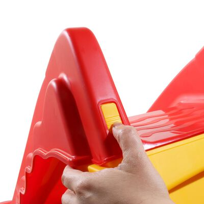 vidaXL Tobogan pliabil pentru copii de interior & exterior roșu/galben,