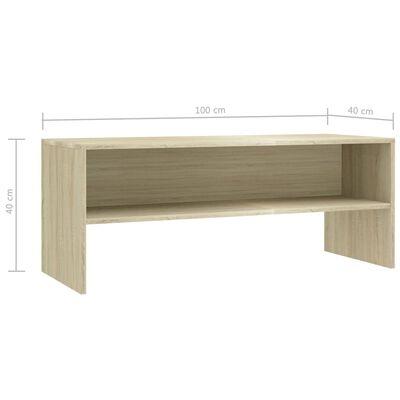 vidaXL Comodă TV, stejar Sonoma, 100 x 40 x 40 cm, PAL