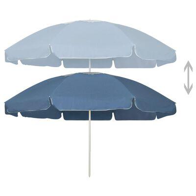 vidaXL Umbrelă de plajă, albastru, 240 cm