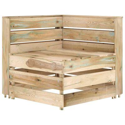 vidaXL Set mobilier de grădină, 9 piese, lemn de pin verde tratat