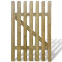 vidaXL Poartă de grădină, 100 x 150 cm, lemn