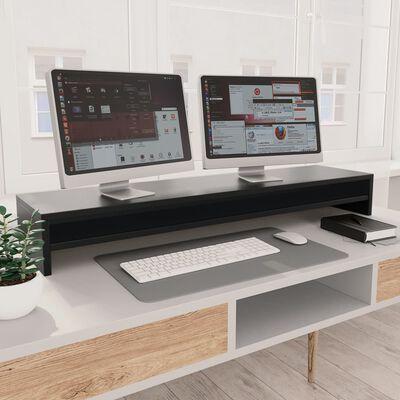 vidaXL Suport monitor, negru, 100 x 24 x 13 cm, PAL