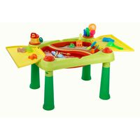 """Keter Masă de joacă """"Sand & Water"""", roșu și galben, 178668"""