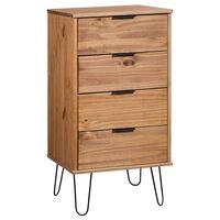 vidaXL Comodă sertare, lemn deschis și alb, 45x39,5x90,3, lemn pin