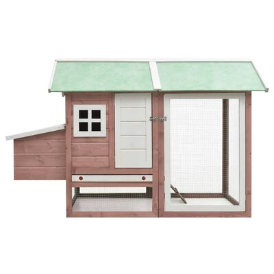 vidaXL Coteț de păsări, cafeniu, 170x81x110 cm, lemn masiv pin & brad