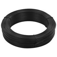 vidaXL Fir de tensionare pentru gard 250 m 2,3/3,8 mm, antracit, oțel
