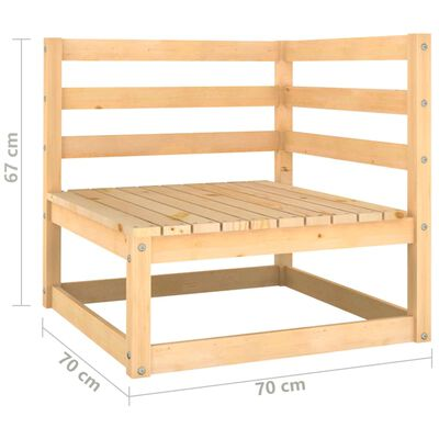 vidaXL Set mobilier de grădină, 10 piese, lemn masiv de pin