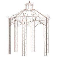 vidaXL Pavilion de grădină, maro antichizat, 3 m, fier