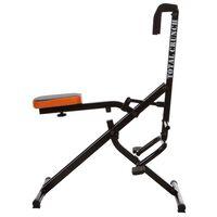 Total Crunch Aparat fitness exerciții cardio, negru, metal TOC001