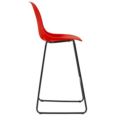 vidaXL Scaune de bar, 6 buc., roșu, plastic